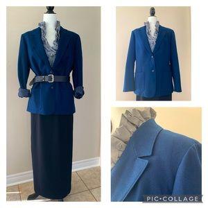 🇺🇸 PENDLETON classic blue wool blazer - M